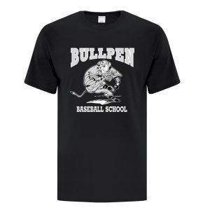 Bullpen Black Baseball School T-Shirt