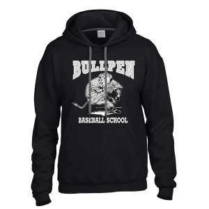 Bullpen Black Baseball School Hoodie